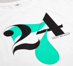 NATRI - 24/7 - T-Shirt (white): TWENTY-FOUR-SEVEN - EIGHT TO EIGHT #silkscreen #apparel #modern #print #design #graphic #shirt #minimal #fashion #type #typography