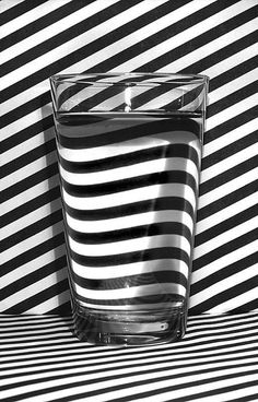 Refraction. Imgur #white #black #water #refraction #stripe