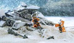 Benedek Lampert Recreates Star Wars Scenes With Legos