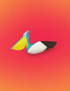 More Illustrations on the Behance Network #florida #illustration #pelican #bird
