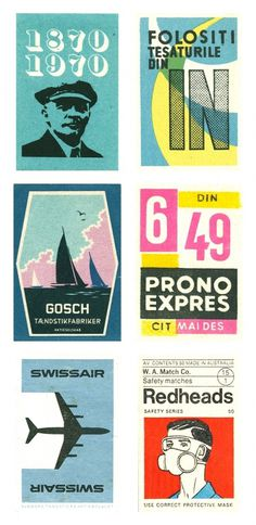 Vintage matchboxes from around the world #matchbox #vintage #covers