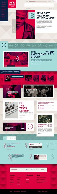 Red Bull Studios by Momkai #website #red bull #vibrant #bold