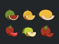 Fruits Icon #illustration