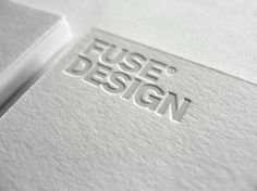 Fuse Design | Lovely Stationery #white #business #card #logo #foil