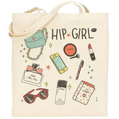 Hip Girl | Trote Bag, exclusive trote bags. #canvas #tote #trote #horse #girl #bag #hip