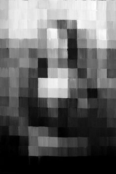 Mona Lisa. - jaded mind #mona #blackwhite #pixelated #art #lisa