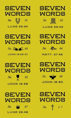 Seven Words #iconography #icon #church #lock #jesus #up #type #christ #typography