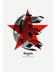 estrella tee4 - Mark Brooks #blacklister #design #typography