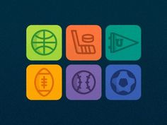 Sports #simple #color #icons