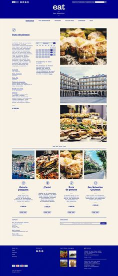 Eat San Sebastian by We are Rifle #brand design #web design #website