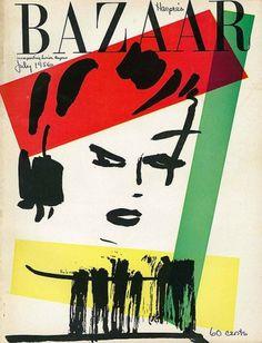 Harper`s Bazaar July 1956 | MODESQUISSE #fashion #illustration #bazaar