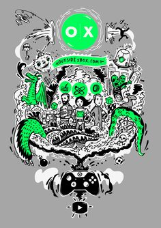 Outside Xbox T-shirt Design on Behance