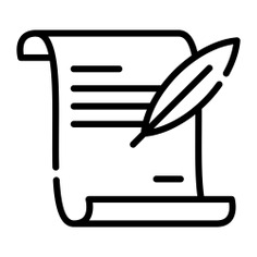 See more icon inspiration related to paper, scroll, pen, parchment, old paper, files and folders, cultures, old scroll, feather pen, writing tool and history on Flaticon.