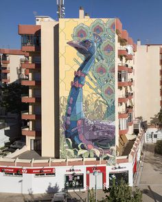 Juxtapoz Magazine Arys paints two new walls in Spain #arys