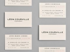 Léon Courville Vigneron, lg2 boutique, identity, business card