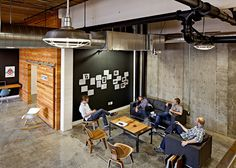 interior, office, creative, agency, desk, wood, chair
