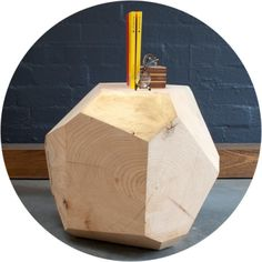 wooden gem stool #furniture