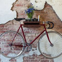fixa bike shelf #interior #inspirational #creative #design #home #bike #rack #cool