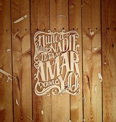 "Abraham Garcia – ""Portada Chilango Febrero"" #inspiration #cut #paper #typography"