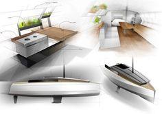 Wt minimalist travelling #sofa #plants #designer #design #drawing #yacht #wood #photoshop #kitchen #boat #table #aluminium #sketch