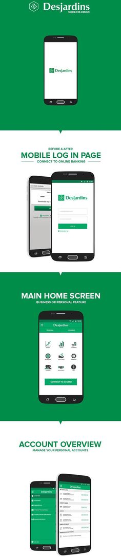 Desjardins Mobile | Re-Design by Shawn Clements-Porter