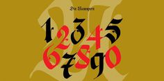 Numbers #calligraphy #font #typography