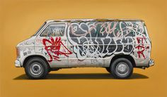 kevin_cyr #cyr #vehicles #kevin #painting #oil