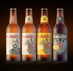 Kalusher beer on Behance