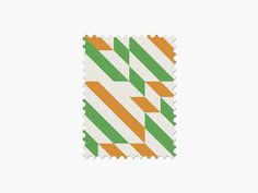 Côte D'Ivoire #stamp #graphic #maan #geometric #illustration #minimal #2014 #worldcup #brazil