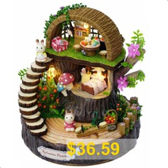 Fantasy #Forest #Wooden #DIY #Dollhouse #- #MULTI-B