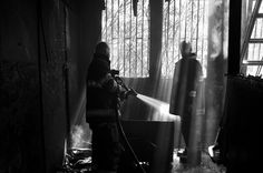 Fireday friday #black and white #smoke #lines #fire #moment #fireman