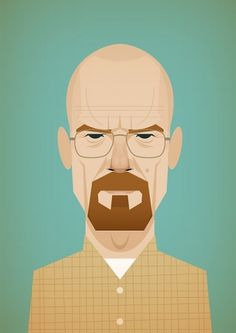 Stanley Chow Illustration #illustration #portrait #breaking #bad