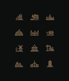 Tim Boelaars #icons #buildings
