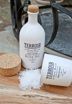 terroir salt #packaging #bottle #typography