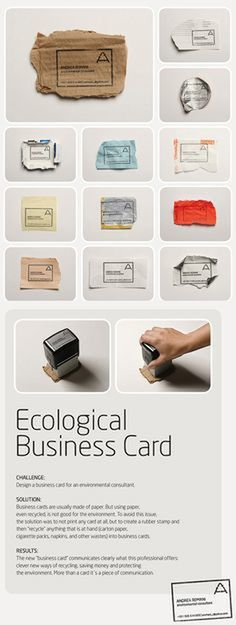 smart, green solution for business cards