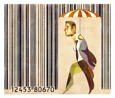 Editorial Illustration on Illustration Served #barcode #creative #illustration