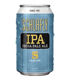 Schlafly Session IPA Can #packaging #beer #can #label