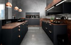 Interior Design Trends 2015 The Dark Color Schemes are Back topaz kitchen copper supermatt black #copper #design #colors #kitchen #dark