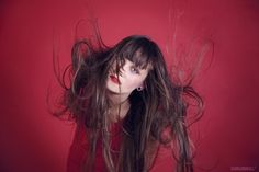 500px / Photo #red #girl #photo #air #conceptual #hair #photography #portrait #studio #fashion