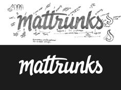 Mattrunks #inspiration #creative #lettered #personalized #design #illustration #logo #hand