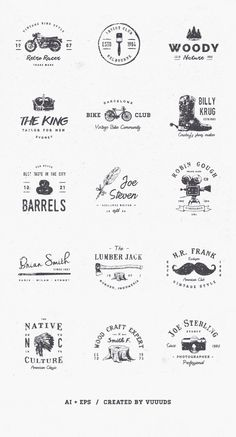 15 Free Retro Vector Logo Templates