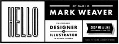 Mark Weaver #mark #type #retro #weaver