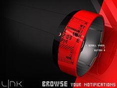 LNK e Paper Watch #tech #amazing #modern #design #futuristic #gadget #craft #illustration #industrial #concept #art #cool