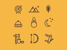 Adventure icons #icons #icon #adventure #design #graphic #nature #black