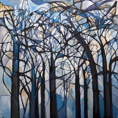 trees #abstract #color #painting #canvas #surreal #trees