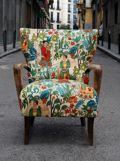 Frida chair by #furniture #pattern #frida #armchair