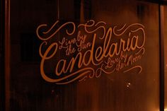 paris | Global Addicts #paris #lettering #candelaria #bar #signage #typography