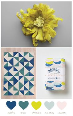 Color Palette: Sapphire + Chartreuse #patterns