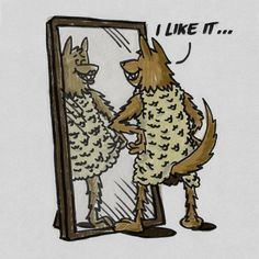A wolf in sheep's clothing is a crossdresser. | Flickr - Photo Sharing! #illustration