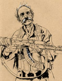 Roxie vizcarra #illustration #oldman